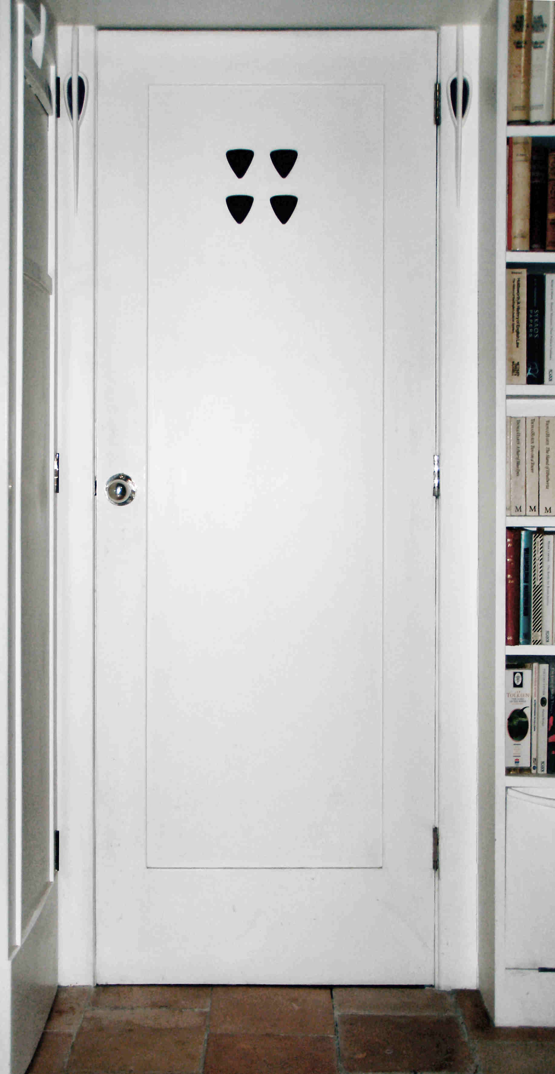White Bathroom Door soundproof bathroom door