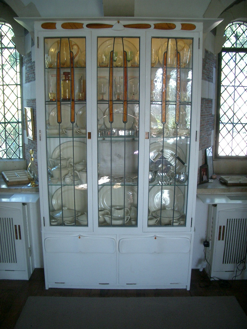 Mackintosh style china cabinet